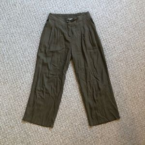 Modern Citizen Olive Green Linen Tapered Pants